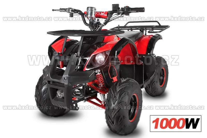 Nitro dětská elektrická čtyřkolka Hummer 1000W červená