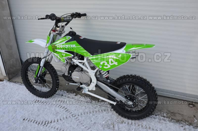 dirtbike thunder cross MONSTER 125ccm 17/14 - černá