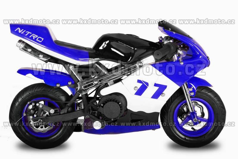 minibike nitro PS77 - modrá